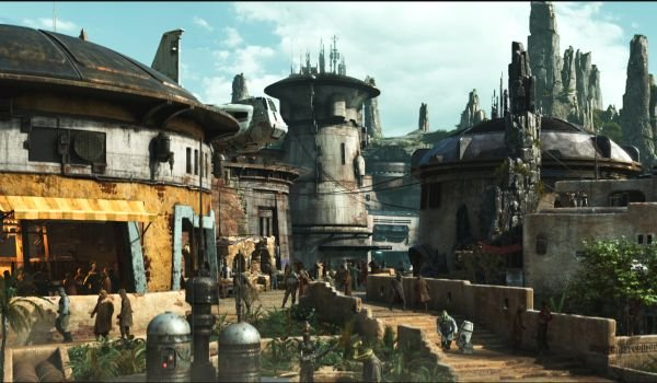 Star Wars Galaxy's Edge Concept art of batuu