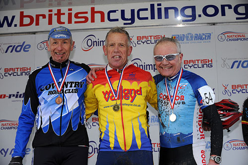 Veterans 65-70+ podium, Cyclo-Cross National Championships 2011