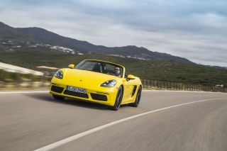 Porsche 718 Boxster driving shot