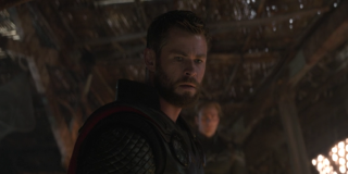 Thor after cutting off Thanos' head