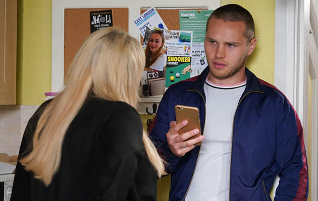 EastEnders spoilers - Sharon Mitchell with Keanu Taylor