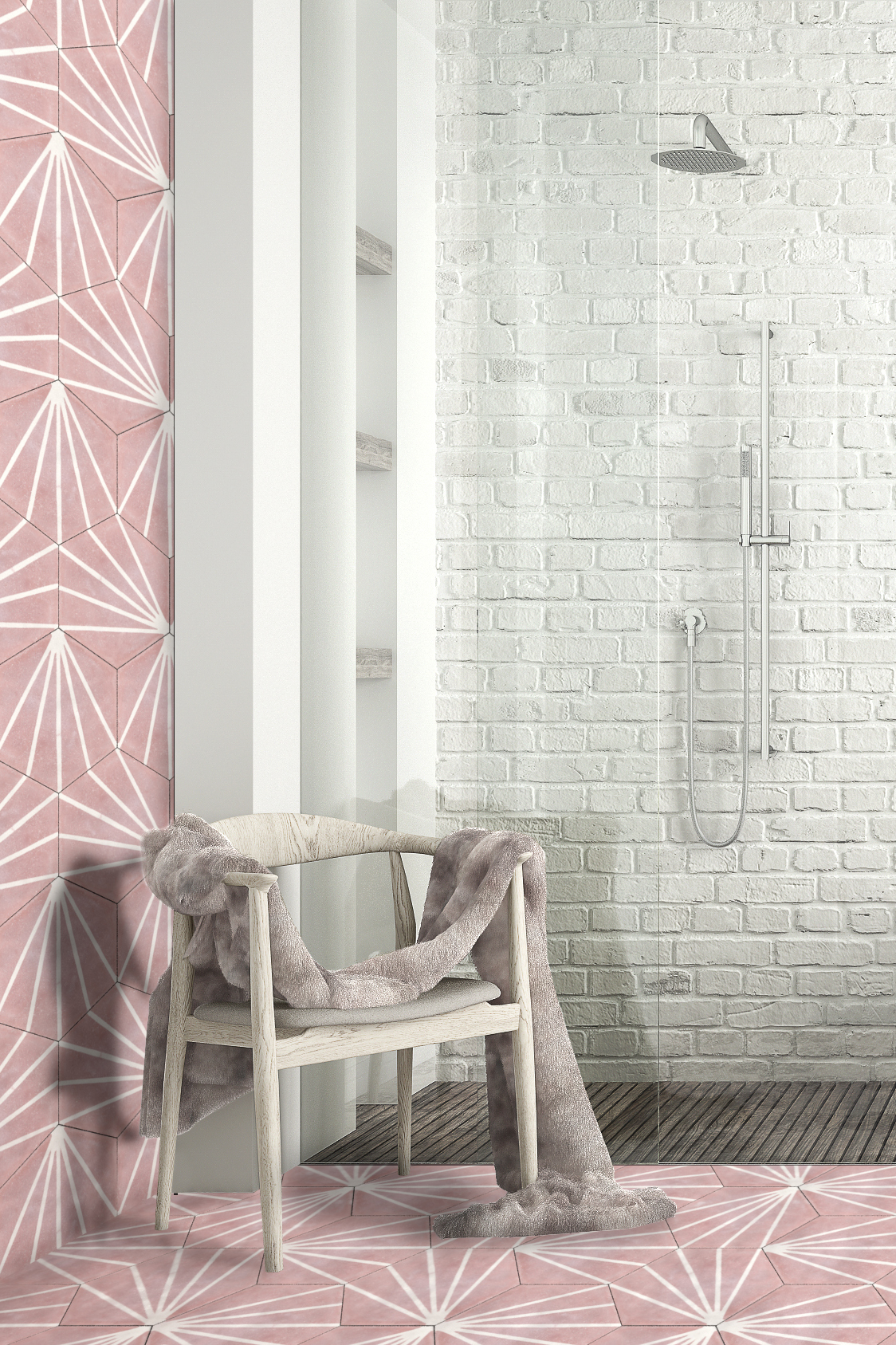 Tap Into The Pink Bathroom Trend With