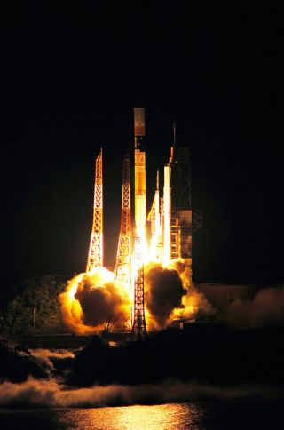 A Japanese H-2A rocket soars into space on Sept. 11, 2010 carrying the new Quasi-Zenith Satellite, a GPS satellite called Michibiki.