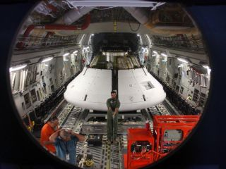 Orion Model Loaded Into C-17