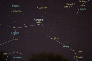 Achernar and the constellation Eridanus