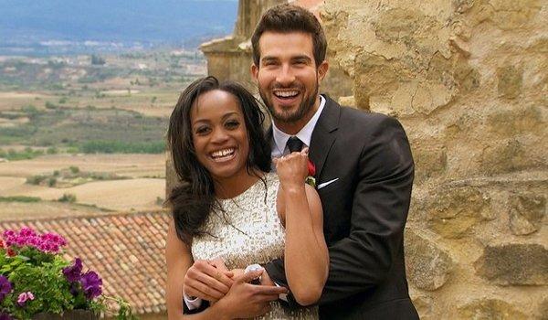 Bachelorette finale smiling happy Rachel Lindsay and Bryan Abasolo