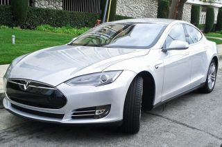 Tesla Model S, electric car, battery