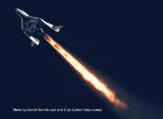 Virgin Galactic SpaceShipTwo Blasts Into the Upper Atmosphere space wallpaper