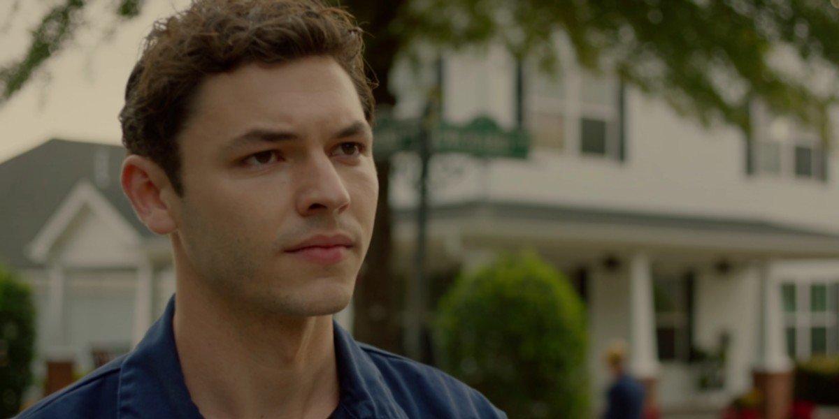 Ryan Clarke staring in an episode of Legacies