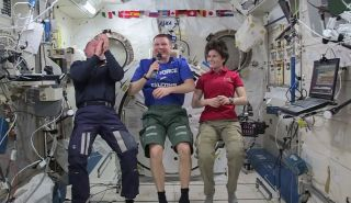 Wilmore, Virts and Cristoforetti in space