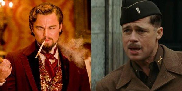 Quentin Tarantino Leonardo DiCaprio Brad Pitt