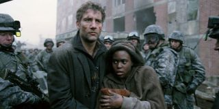 Clive Owen and Clare-Hope Ashitey in Children of Men