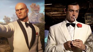 Agent 47 and James Bond