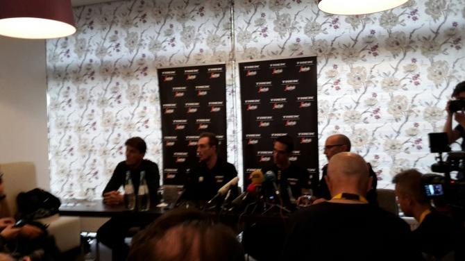 Alberto Contador sits down for his pre-Tour press conference
