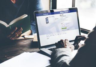 facebook, laptop