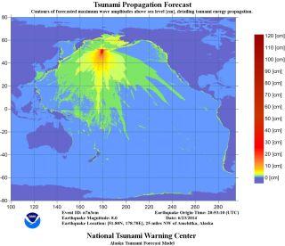 Alaska tsunami map