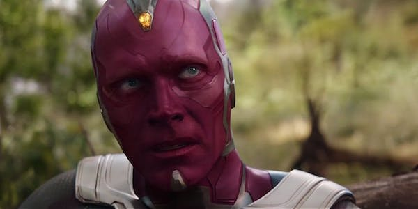 Vision in the Infinity War trailer
