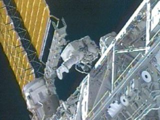 Space Station Crew Prepares for Spacewalk Repair
