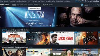 Amazon Prime Video home page