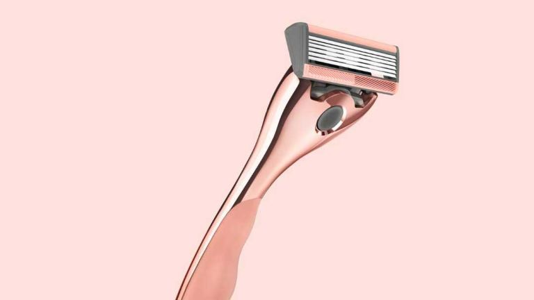Friction Free Shaving razor on pink background