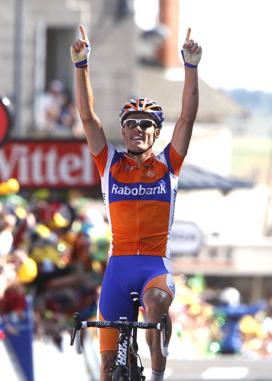 Luis Leon Sanchez wins, Tour de France 2011, stage nine
