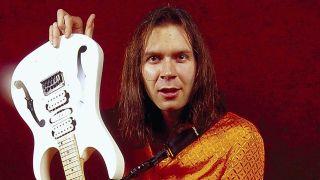 Paul Gilbert with guitar Mr Big photo