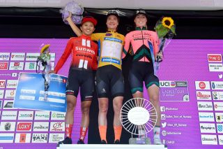 The podium at the 2019 Ladies Tour of Norway