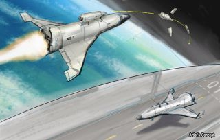 Artist's Concept of DARPA's XS-1 Vehicle