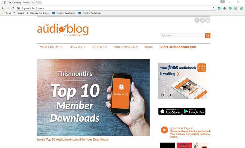 Audiobooks com Review - Pros, Cons and Verdict   Top Ten Reviews