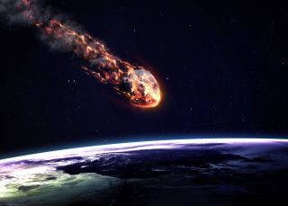 Since there aren't any images of the Greenland fireball, here's an illustration of a space rock burning up as it enters Earth's atmosphere.