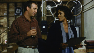 Kevin Costner and Whitney Houston in The Bodyguard