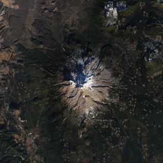 mt. shasta from space