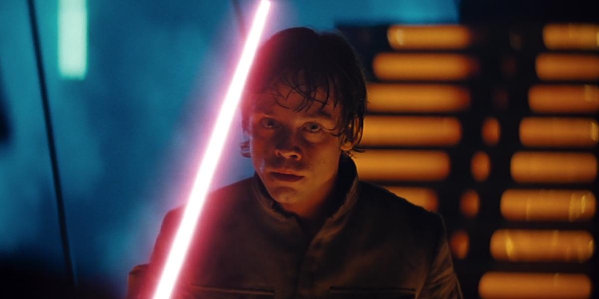 Luke fighting Vader in Empire