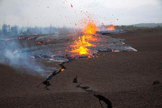 A fissure vent opened on Hawaii's Kilauea volcano.