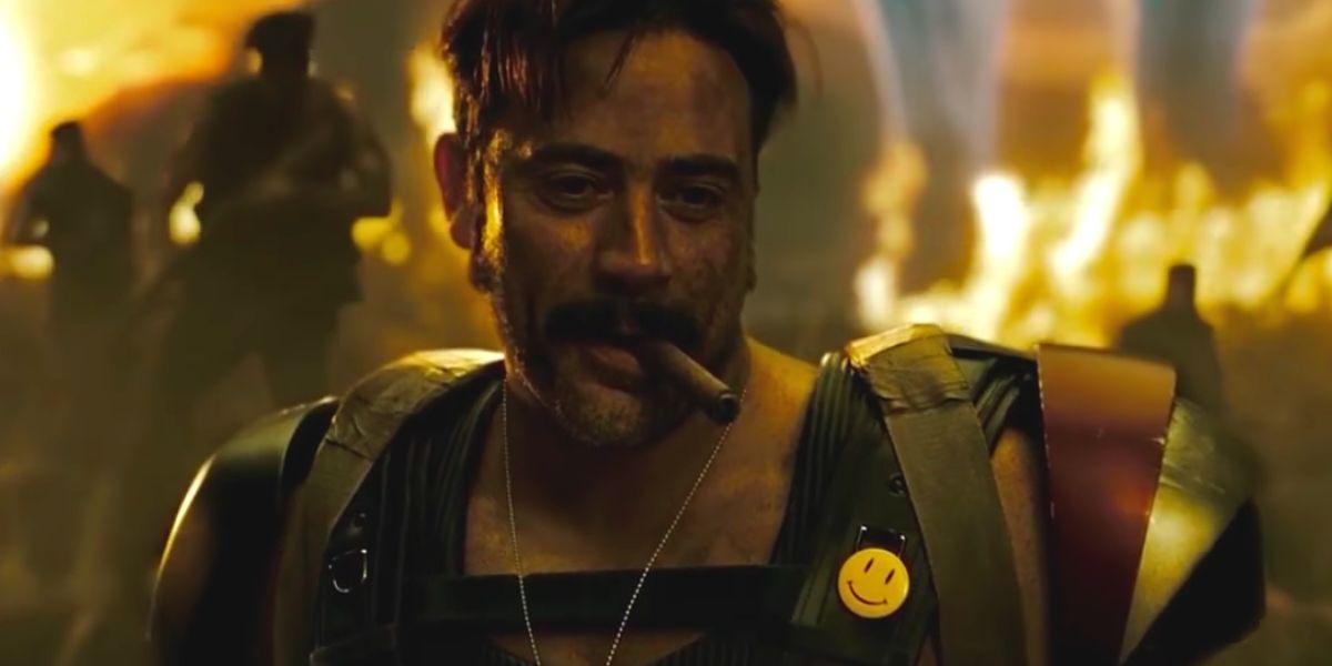 Jeffery Dean Morgan as The Comedian in Zack Sndyer's Watchmen.