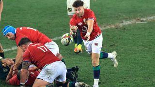British & Irish Lions vs South Africa live stream: Ali Price of the Lions passes the ball