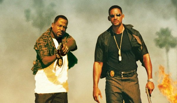 Bad Boys Martin Lawrence Will Smith armed and walking to the camera