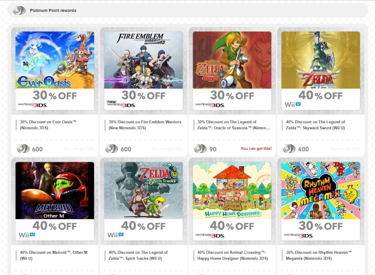 How to Save Big on Nintendo Games with Gold and Platinum Points