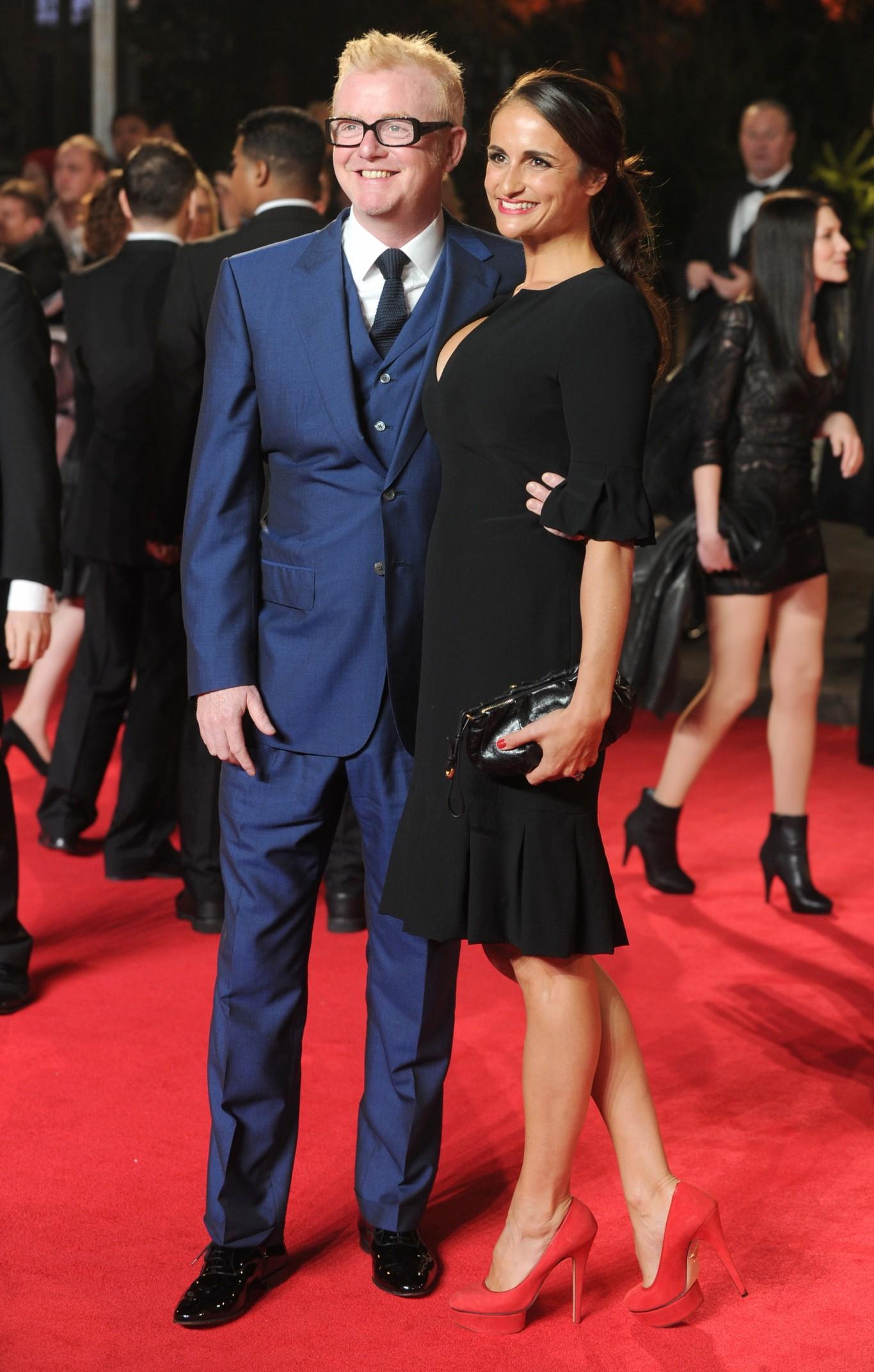 Chris Evans with wife Natasha