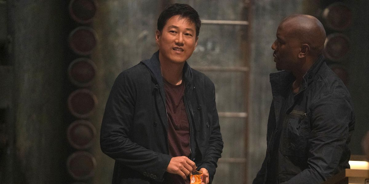 Sung Kang and Tyrese Gibson in F9