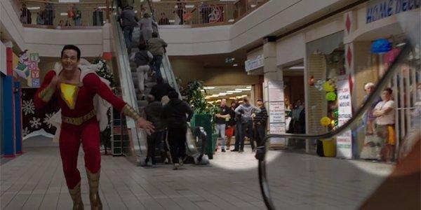 Shazam mall scene crew members shown in David F Sandberg YouTube video