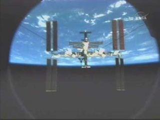 Atlantis Shuttle Crew Undocks from Space Station