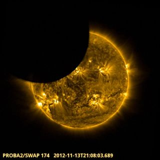 proba 2 satellite partial eclipse