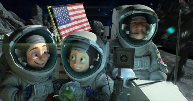 (L-R) Mike Goldwing, Igor, Amy Gonzalez, and Frank Goldwing in the animated film, CAPTURE THE FLAG, by Paramount Pictures