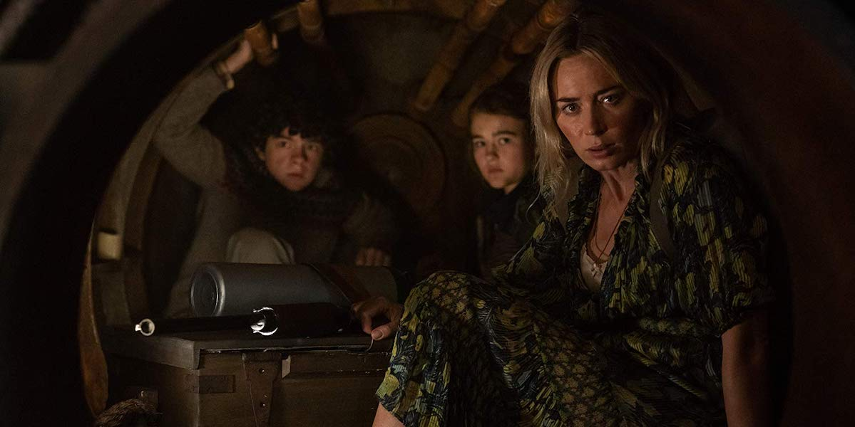 Abbott Family, Noah Jupe, Millicent Simmonds and Emily Blunt in A Quiet Place Part II