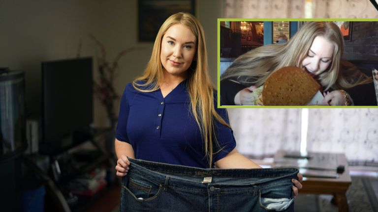 Chelsey Bishop demonstrates her incredible weight loss