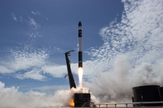 Rocket Lab Electron rocket lifts off
