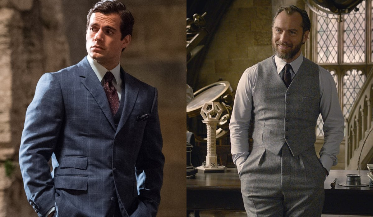Henry Cavill and Jude Law side by side