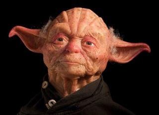 star wars yoda with a human face