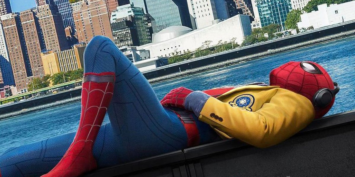 Tom Holland looking like a punk in Spider-Man Homecoming